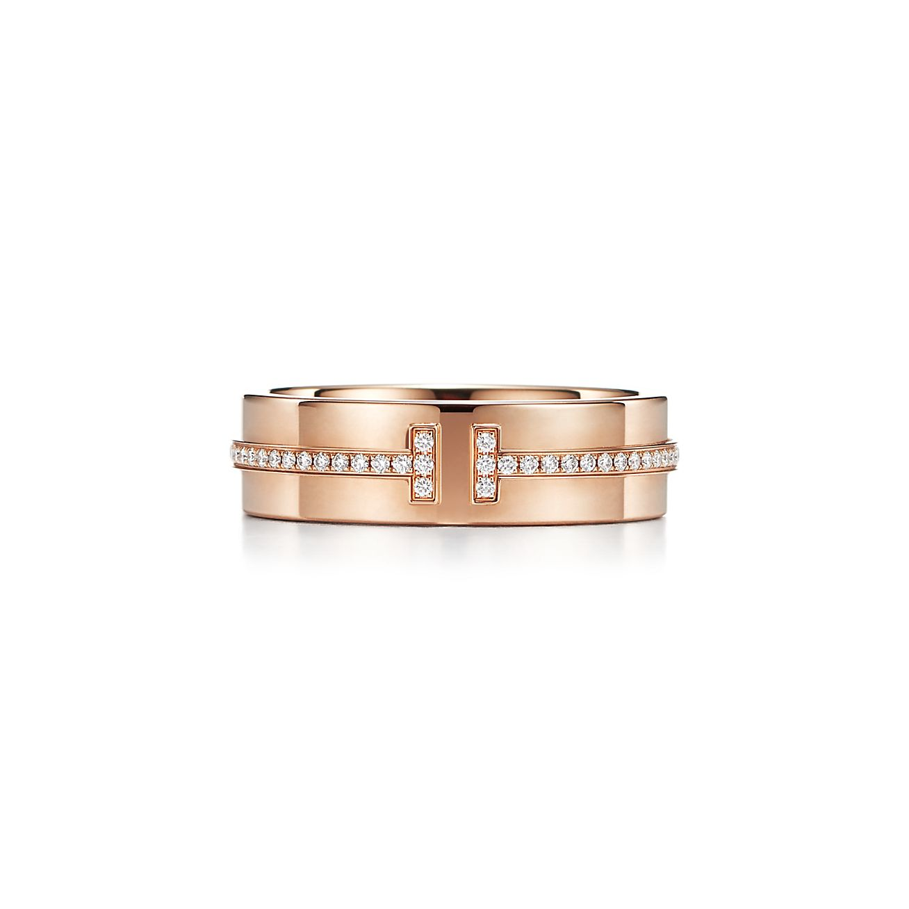 Tiffany T Two Ring In 18k Rose Gold With Diamonds Tiffany Co