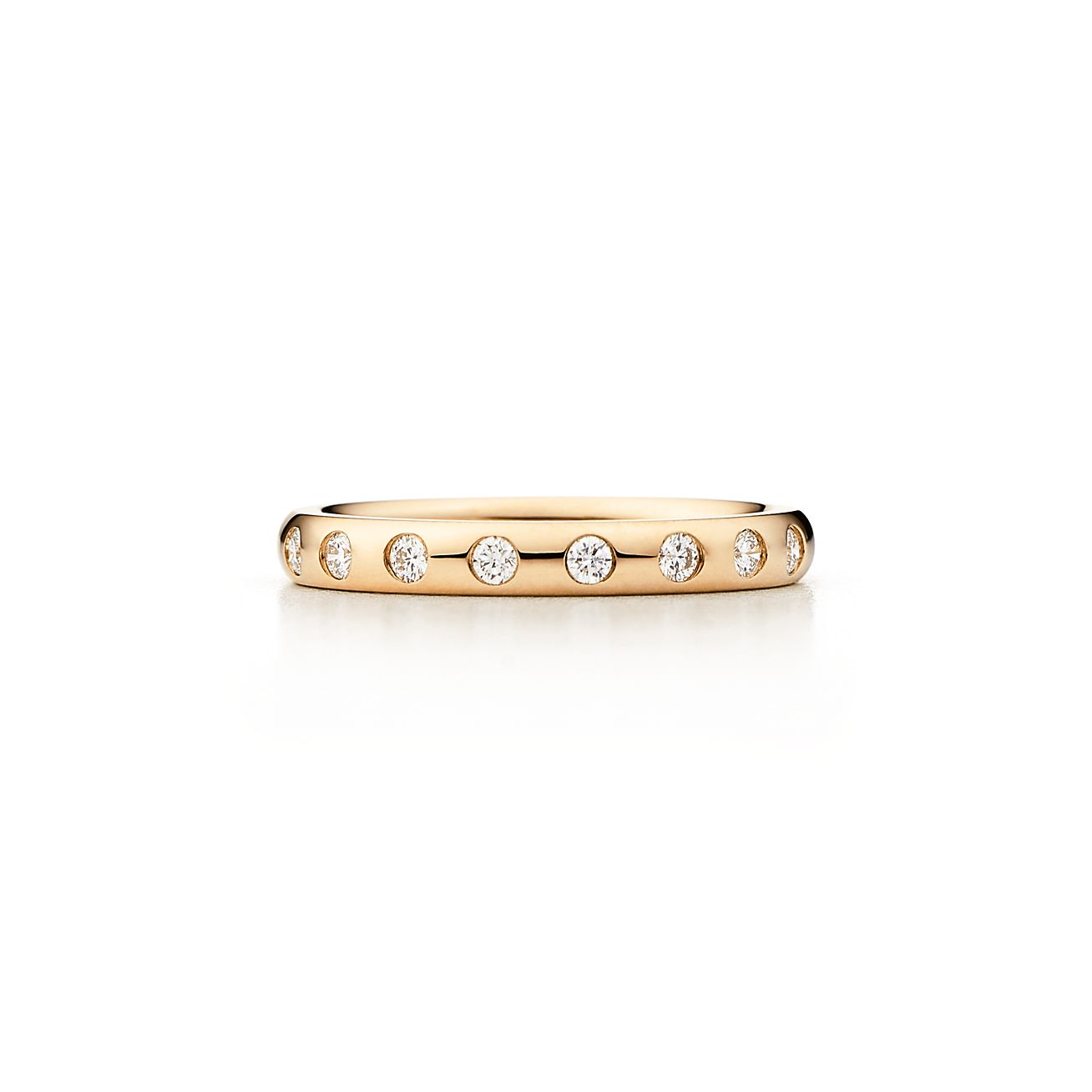 Elsa Peretti band ring with a diamond in 18k gold - Size 10 1/2 Tiffany & Co.
