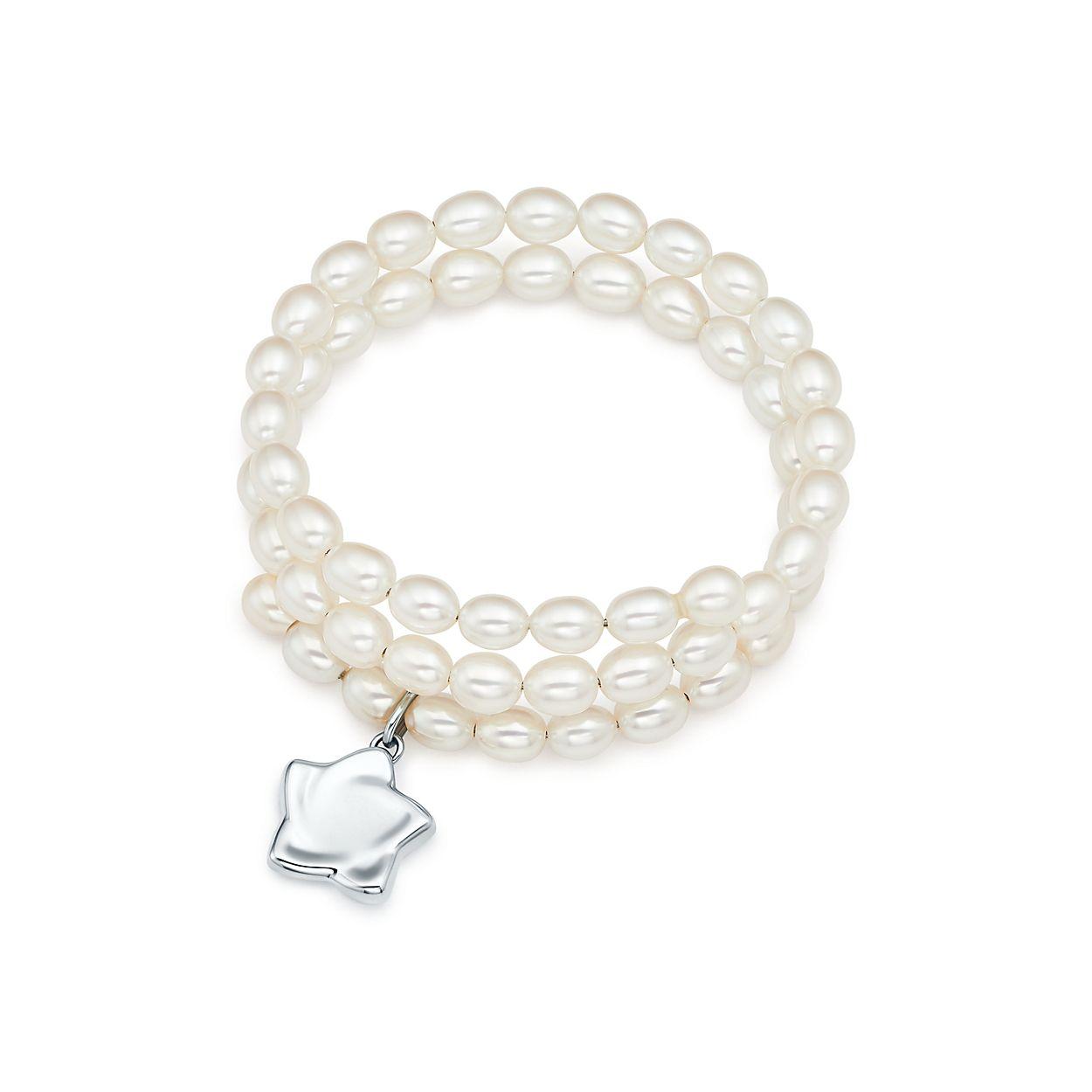 Elsa Peretti Open Heart pearl bracelet in sterling silver, medium Tiffany & Co.