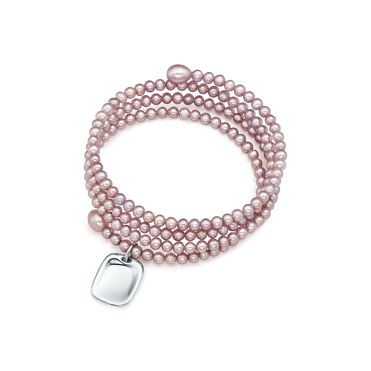 Elsa Peretti Sevillana bracelet in sterling silver with pearls, medium Tiffany & Co.