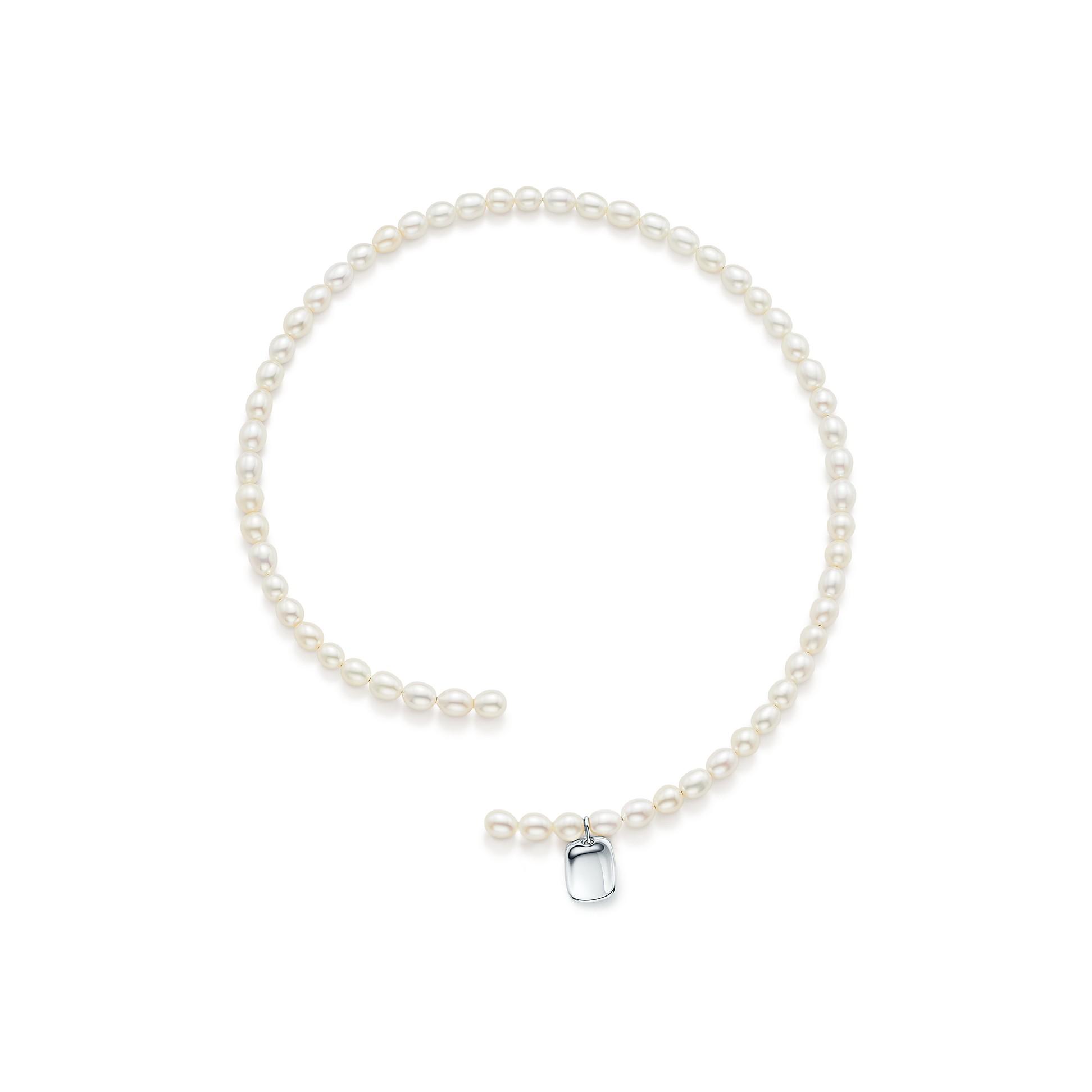 Elsa Peretti®        Pearl Tag Necklace by Elsa Peretti®