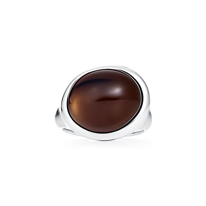 d3731ee4e Elsa Peretti® Cabochon ring in sterling silver with smoky quartz ...