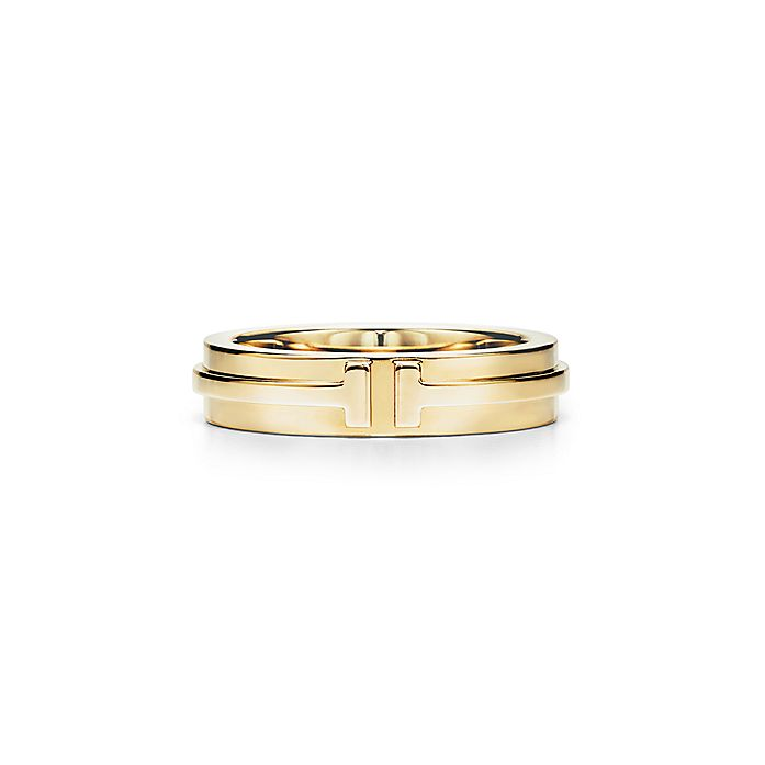 4dd10ccad Tiffany T Two narrow ring in 18k gold. | Tiffany & Co.