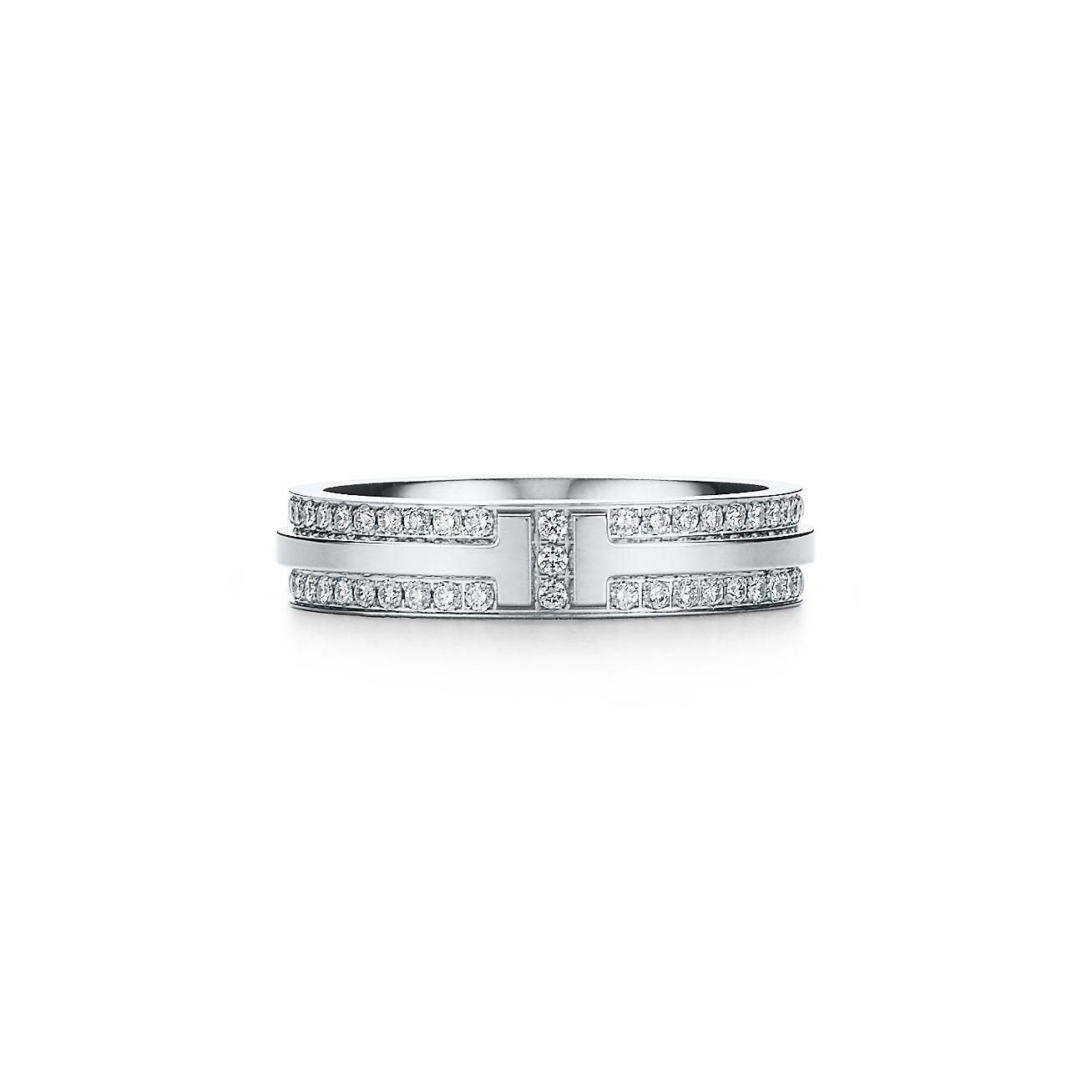 Tiffany 1837 narrow ring in 18k rose gold with diamonds - Size 11 1/2 Tiffany & Co.