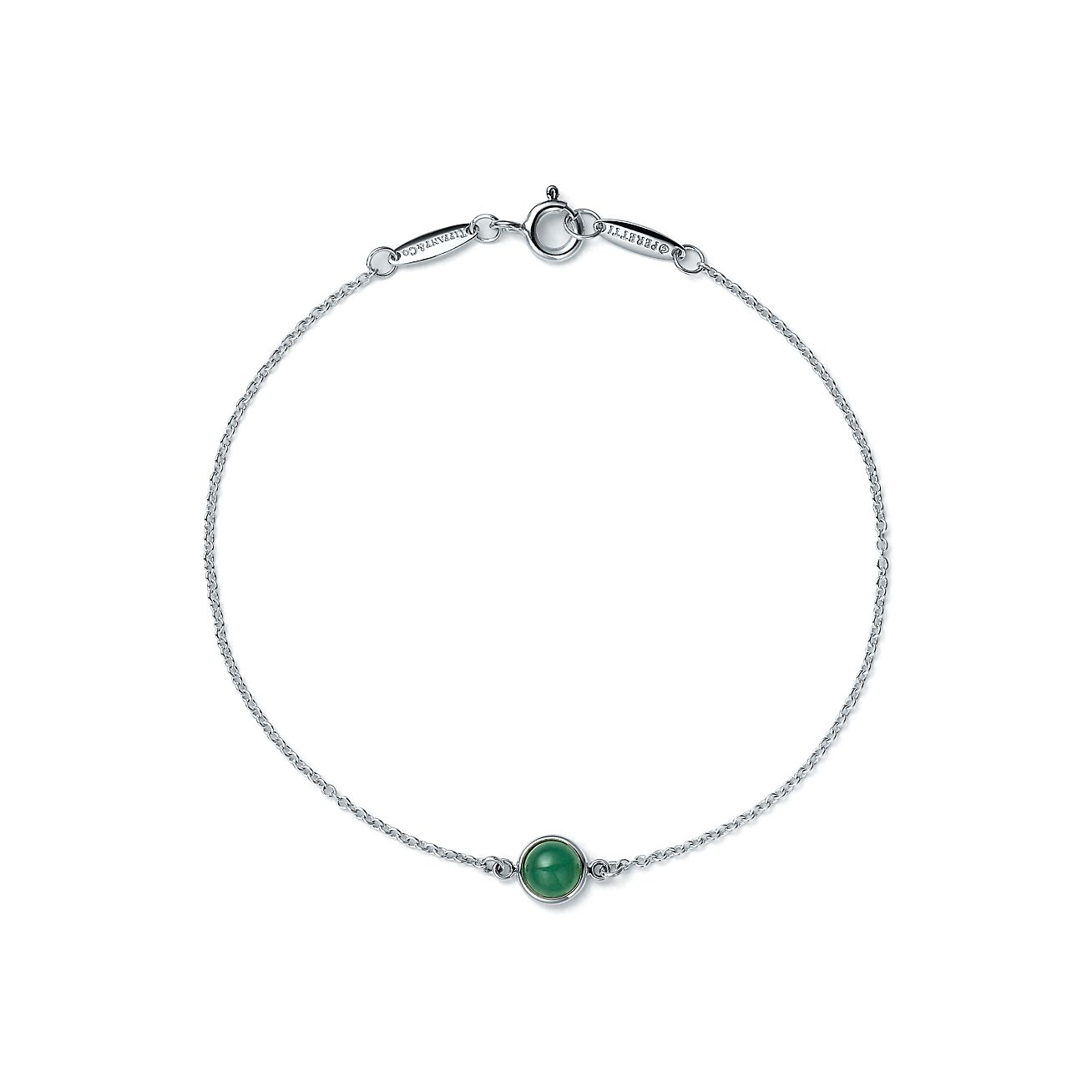 Elsa Peretti Color by the Yard bracelet in silver with green aventurine Tiffany & Co.