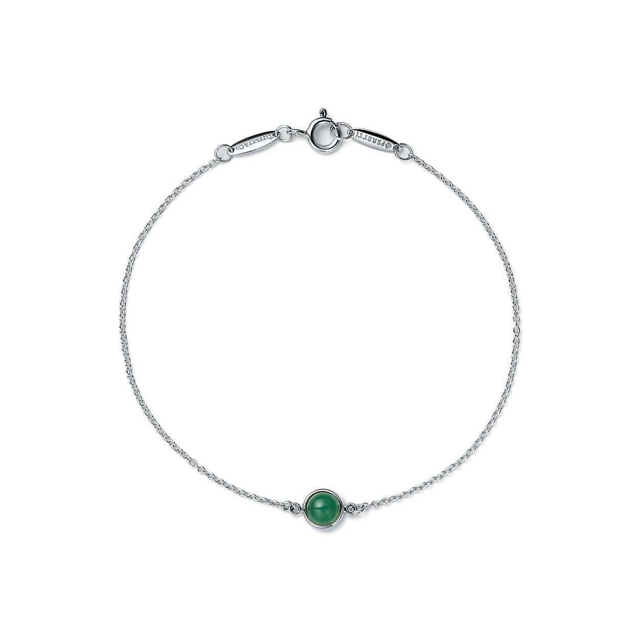 Elsa Peretti Color by the Yard bracelet in silver with green aventurine Tiffany & Co. UPGIGN
