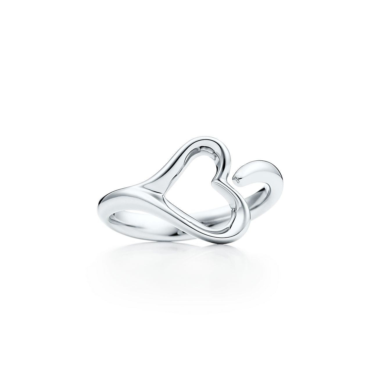 Elsa Peretti Open Heart ring in sterling silver, small - Size 7 1/2 Tiffany & Co.