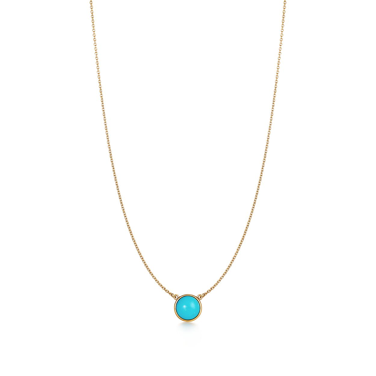 Elsa Peretti® Color by the Yard pendant in 18k gold with turquoise ... e68ab2846