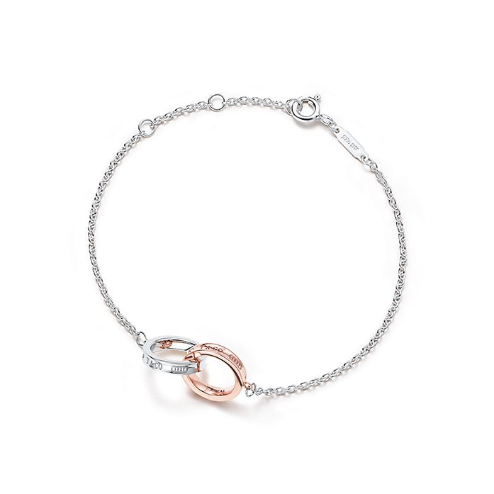 dd424320e Tiffany 1837® double interlocking bracelet in silver and Rubedo ...