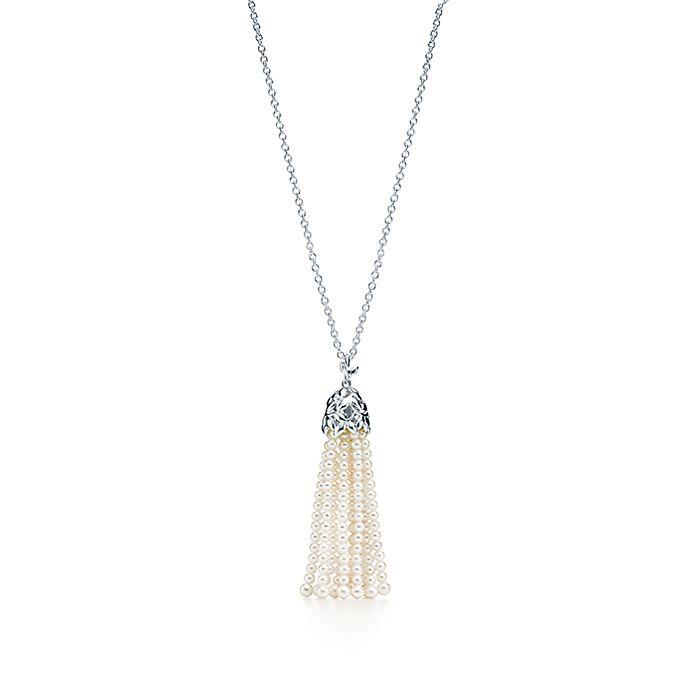 b6a75232b567 Collar de borlas de perlas Olive Leaf Paloma Picasso® en plata fina ...