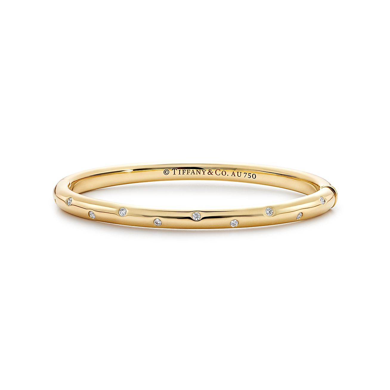 gold and flexible nicole diamond rose bangle