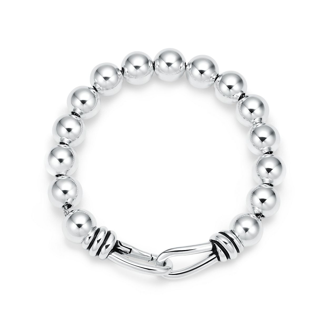 Paloma Picasso Knot bead bracelet in sterling silver, extra large Tiffany & Co.