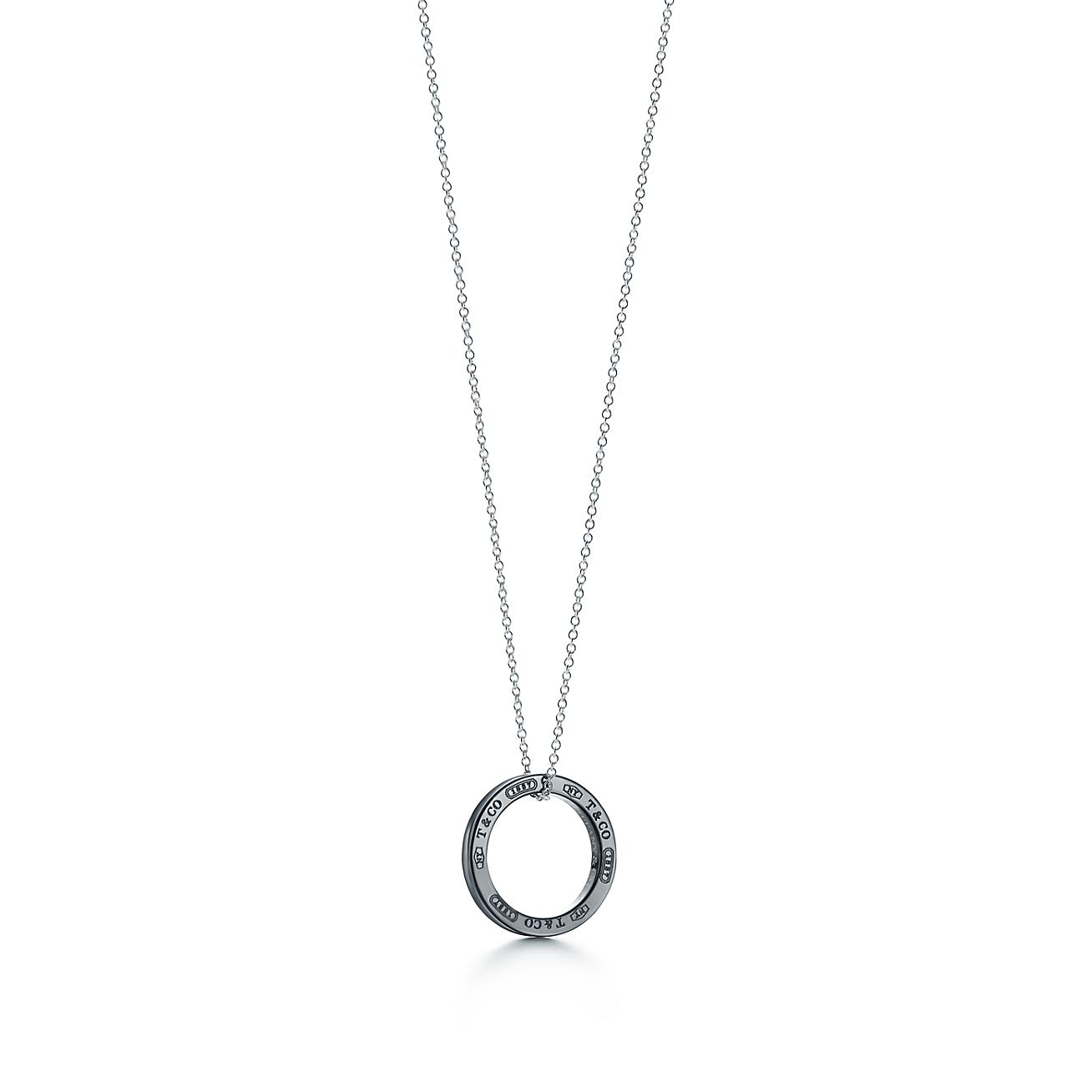 Tiffany 1837 circle pendant in titanium and sterling silver tiffany 1837circle pendant aloadofball Images
