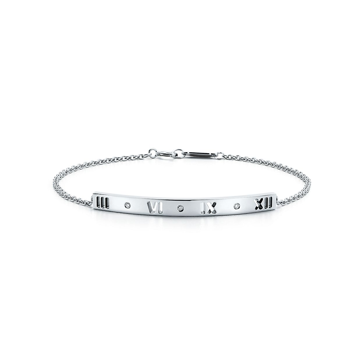 products with white gold p bracelet vrai and bar diamond oro