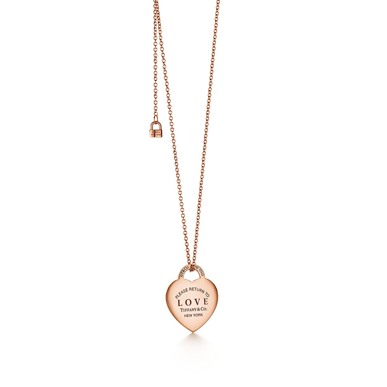 32399c442 Return To Tiffany Large Heart Tag Pendant In 18k Rose Gold With
