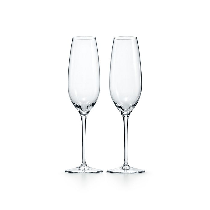 61b8c00267c Champagne flute in crystal, set of two. | Tiffany & Co.