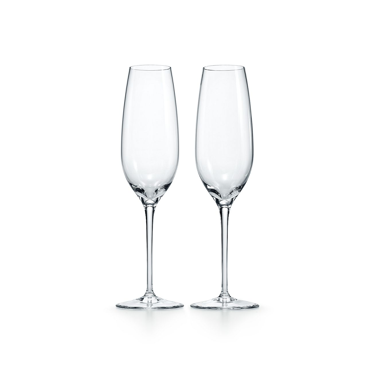 champagne flute in crystal set of two tiffany co