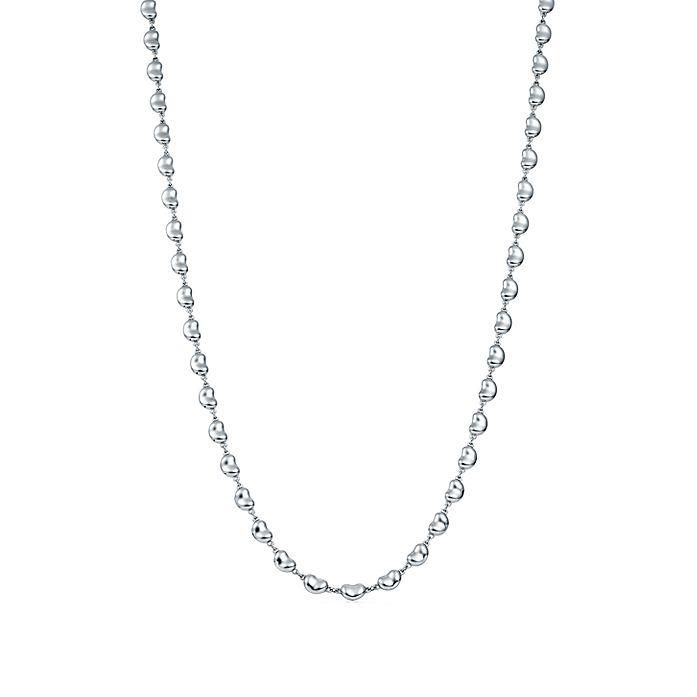 5901085f1 Elsa Peretti® Bean Design® necklace in sterling silver.   Tiffany & Co.