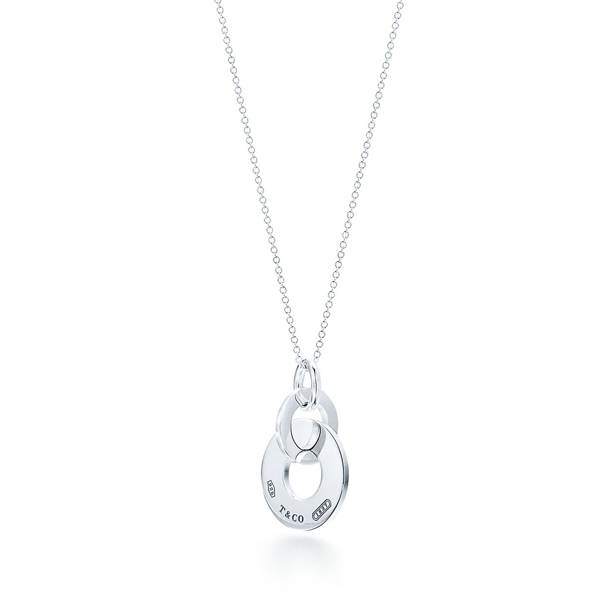 Tiffany 1837 interlocking drop pendant in sterling silver small tiffany 1837double interlocking drop pendant mozeypictures Gallery