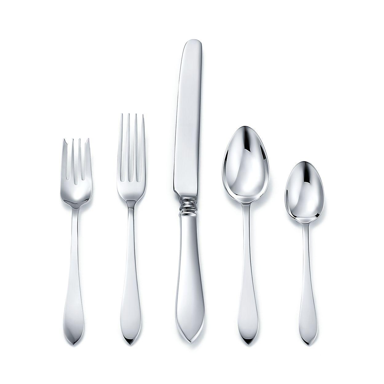 Faneuil five-piece flatware set in sterling silver. | Tiffany & Co.
