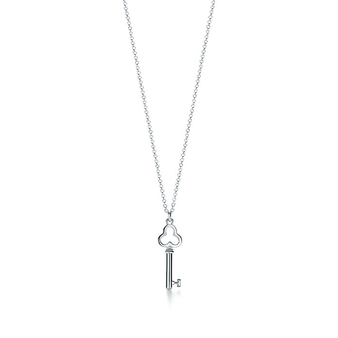 af8a68e78 Tiffany Keys trefoil key pendant in sterling silver, mini. | Tiffany ...