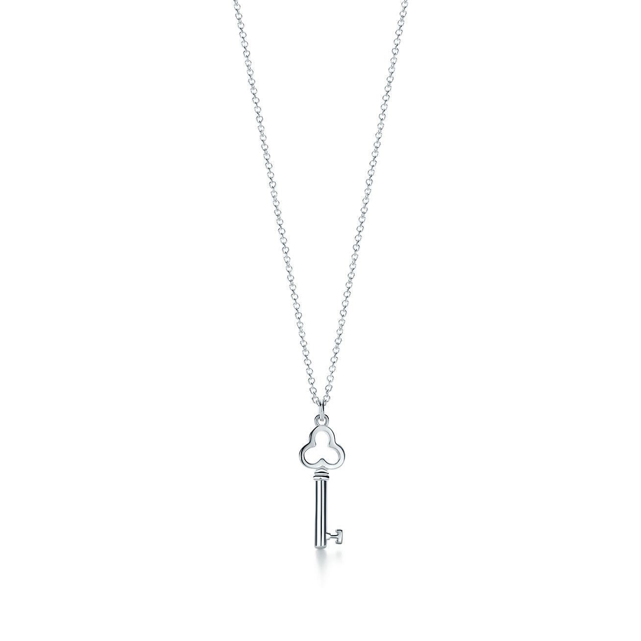 Tiffany keys trefoil key pendant in sterling silver mini tiffany tiffany keystrefoil key pendant aloadofball Gallery