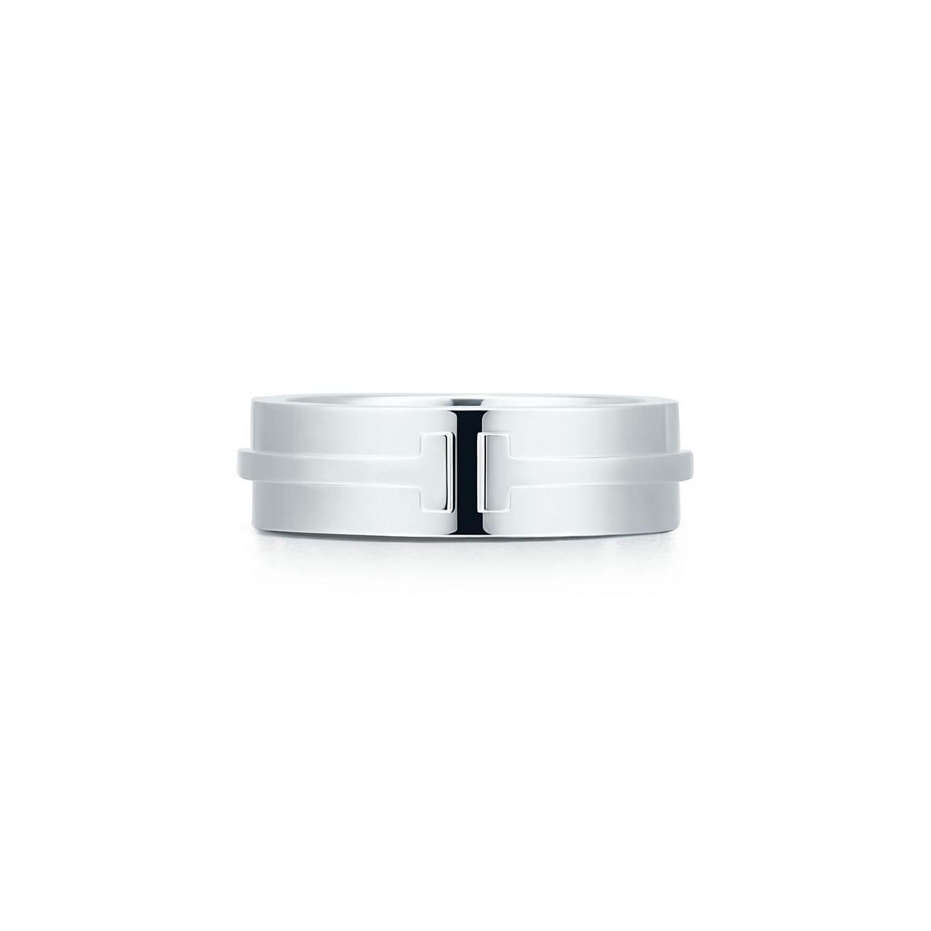 Tiffany T Two ring in titanium and sterling silver - Size 10 1/2 Tiffany & Co.
