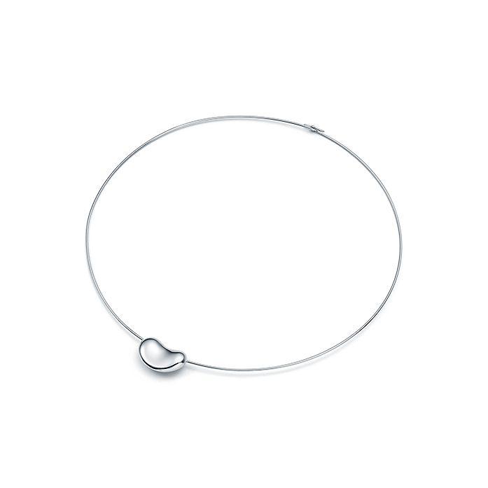 b0dcf5779 Elsa Peretti® Bean Design® wire necklace in sterling silver ...