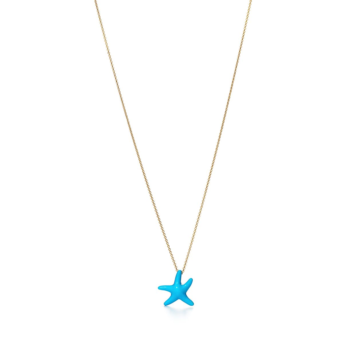 Elsa peretti starfish pendant of turquoise and 18k gold mini elsa perettistarfish pendant audiocablefo
