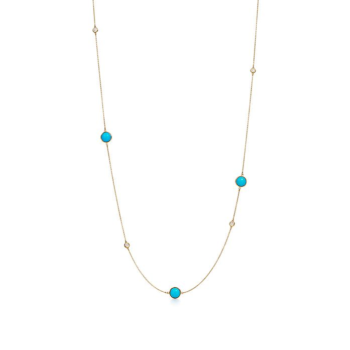 313ac2f12 Elsa Peretti® Color by the Yard sprinkle necklace in 18k gold with ...