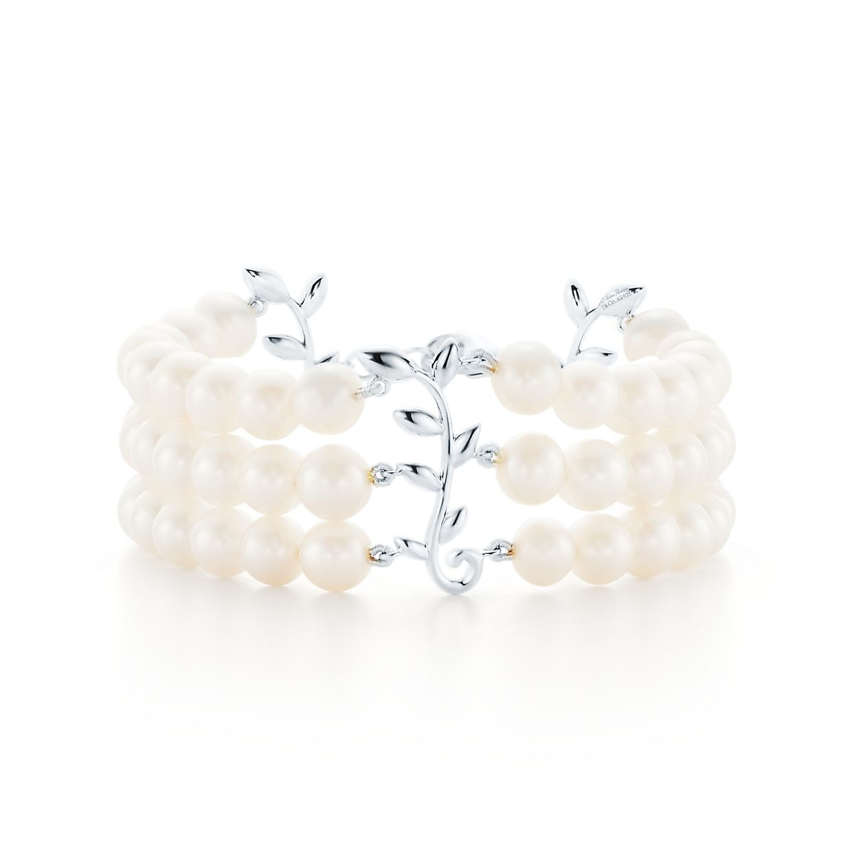 Paloma Pico Olive Leaf Three Row Pearl Bracelet In Sterling Silver Tiffany Co
