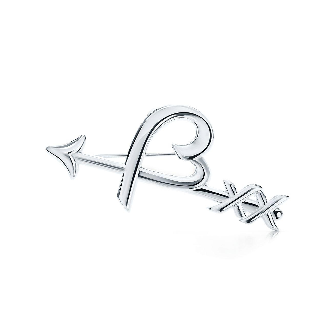 Palomas Graffiti heart & arrow brooch in sterling silver Tiffany & Co.