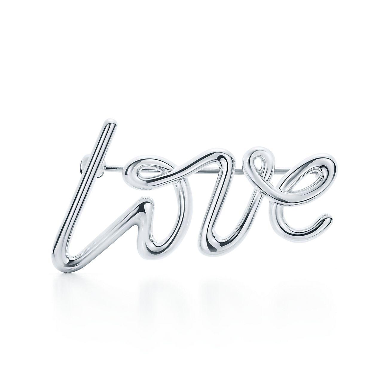 Palomas Graffiti love brooch in sterling silver Tiffany & Co.