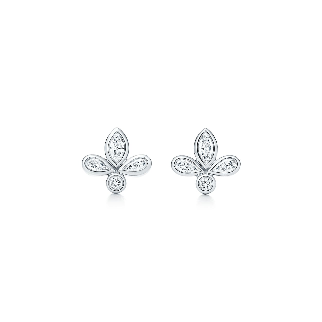 jewellery platinum diamond drop earrings zoom