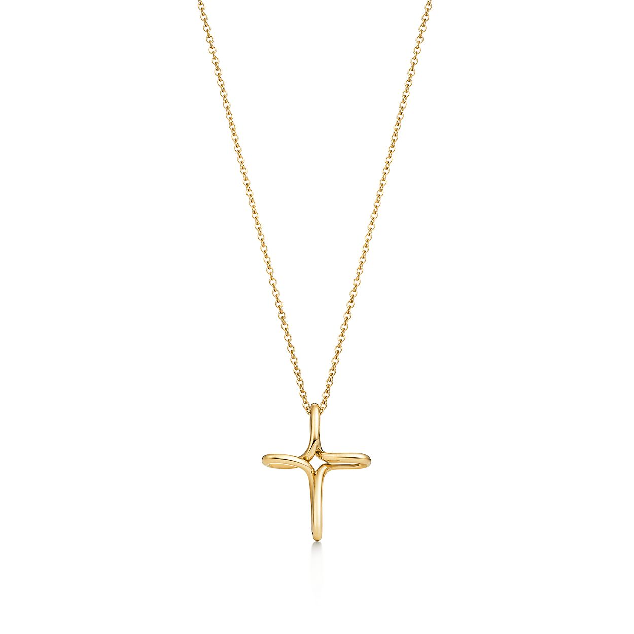 a82418918 Elsa Peretti Infinity Cross Pendant In 18k Gold Small Tiffany Co