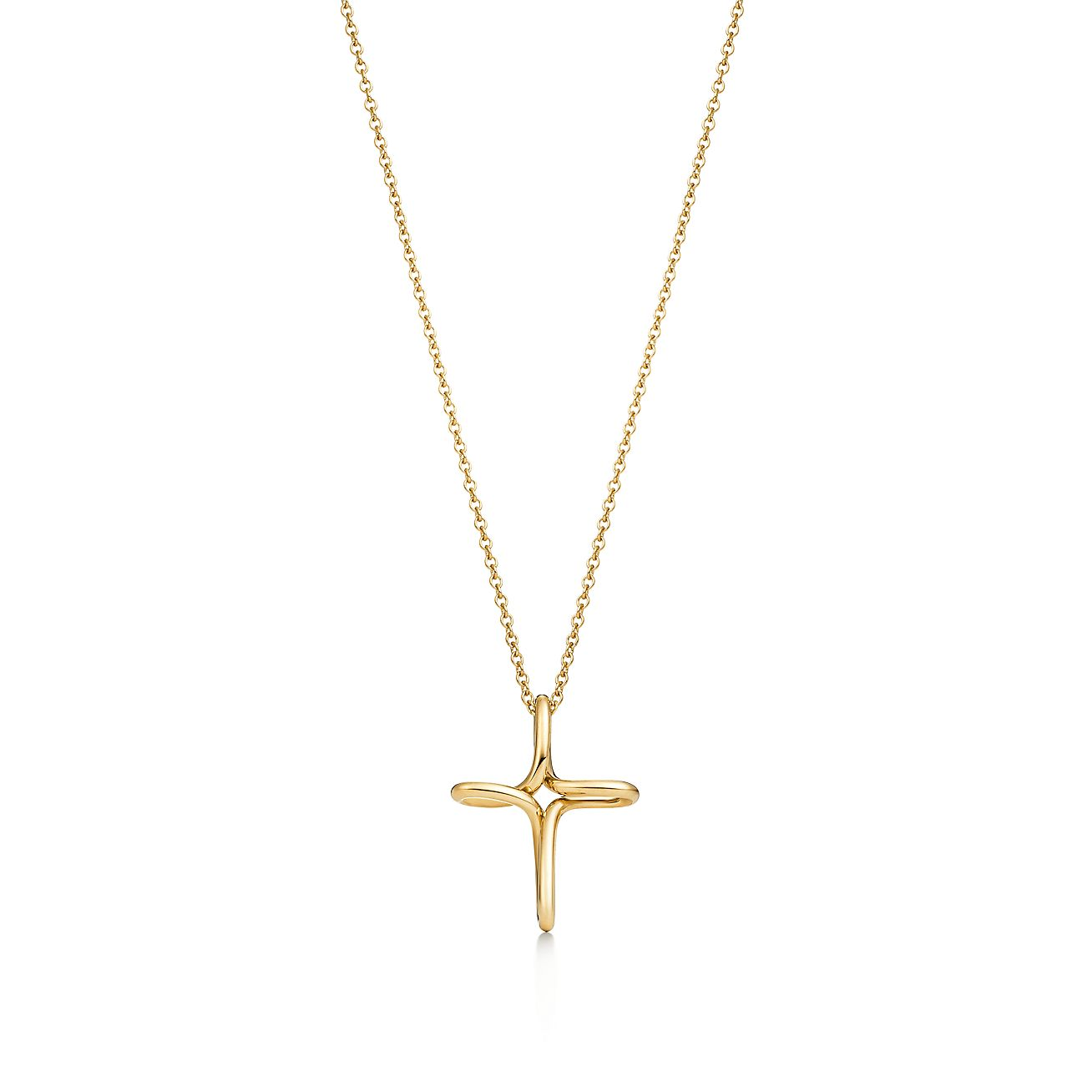 Elsa peretti infinity cross pendant in 18k gold small tiffany co elsa perettiinfinity cross pendant aloadofball Images