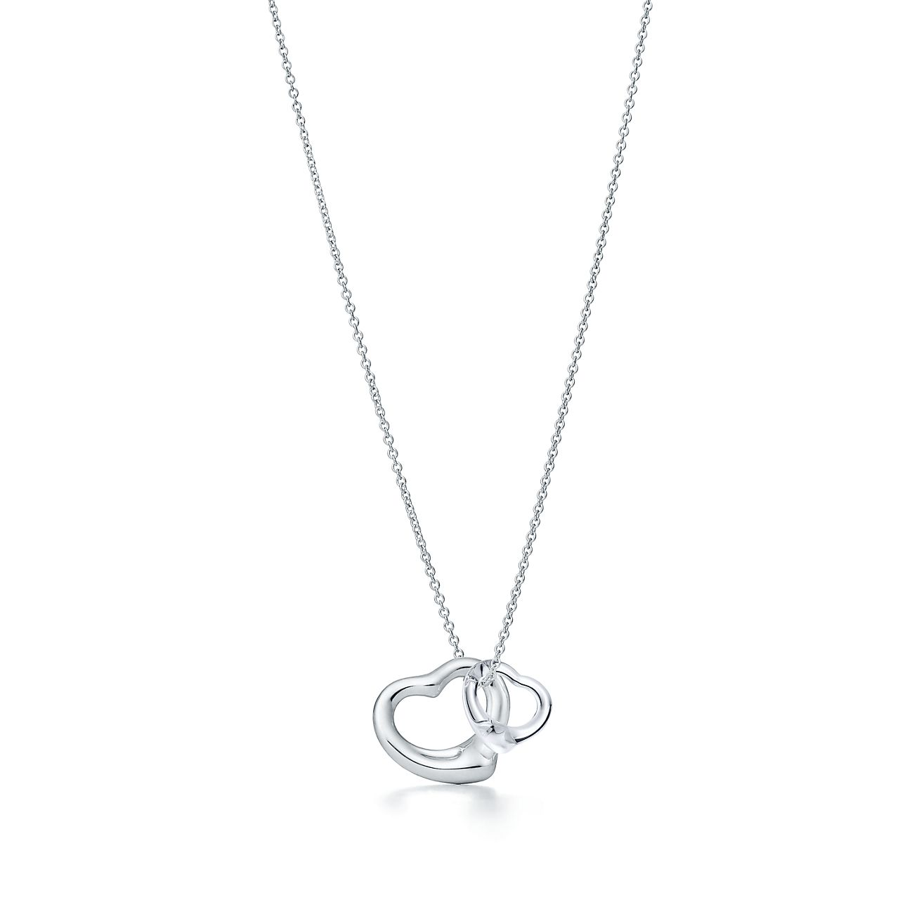 eda360f51 Elsa Peretti Open Heart Pendant Of Sterling Silver And Rock Crystal