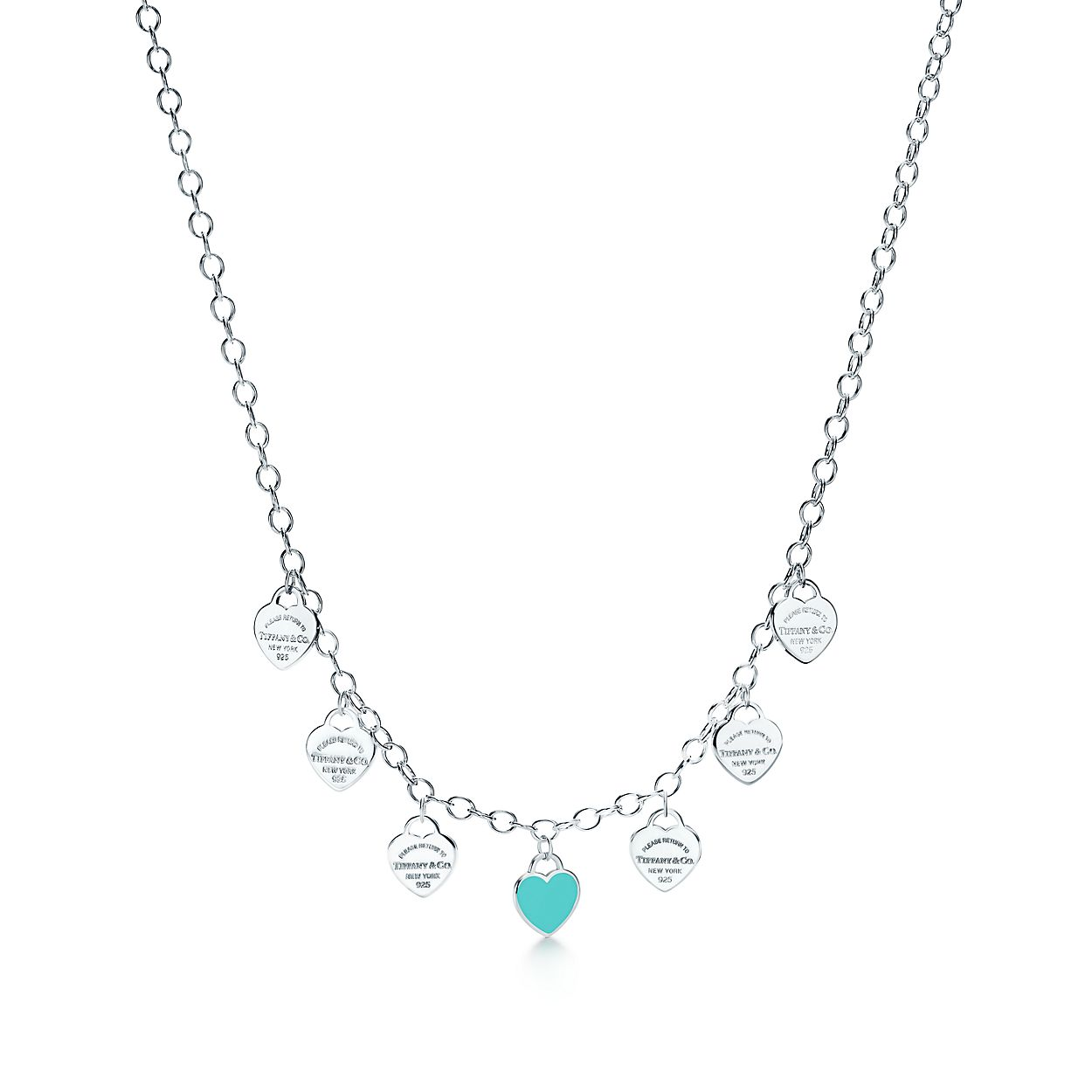 Return to Tiffany multi-heart tag necklace in sterling silver, mini Tiffany & Co.