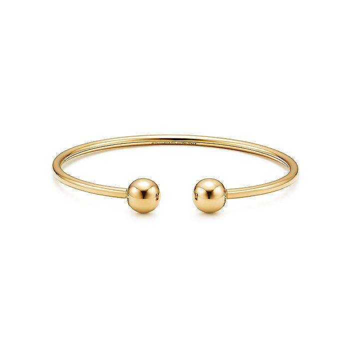 6ef4aeaa9 Tiffany City HardWear ball wire bracelet in 18k gold, medium ...