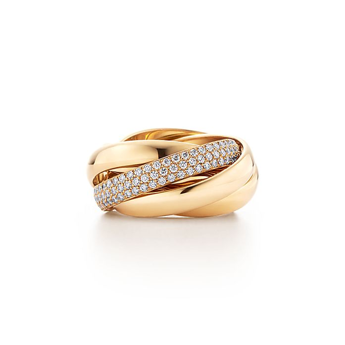 50590352b Paloma's Melody five-band ring in 18k gold with diamonds. | Tiffany ...
