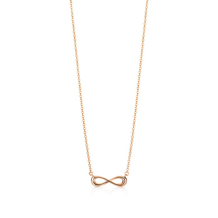 88f67fd08 Tiffany Infinity pendant in 18k rose gold, mini. | Tiffany & Co.