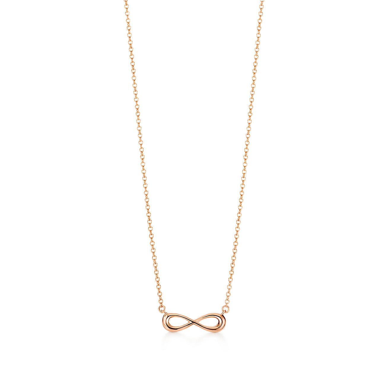 Tiffany infinity pendant in 18k rose gold mini tiffany co tiffany infinitypendant aloadofball Gallery