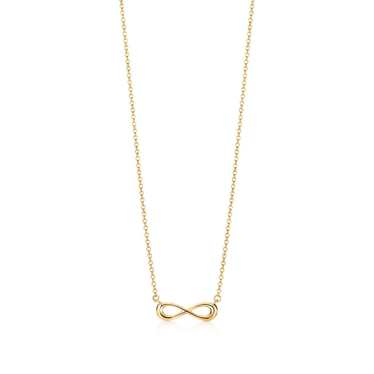 Tiffany Infinity pendant in 18k gold, mini Tiffany & Co.