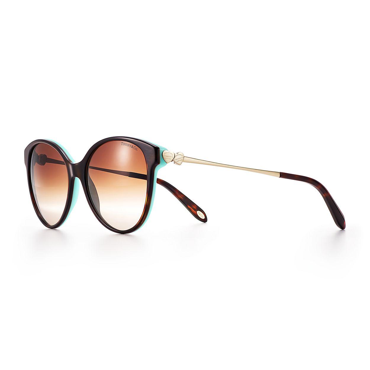 Gafas de sol redondas Return to Tiffany® en carey y acetato Tiffany ...