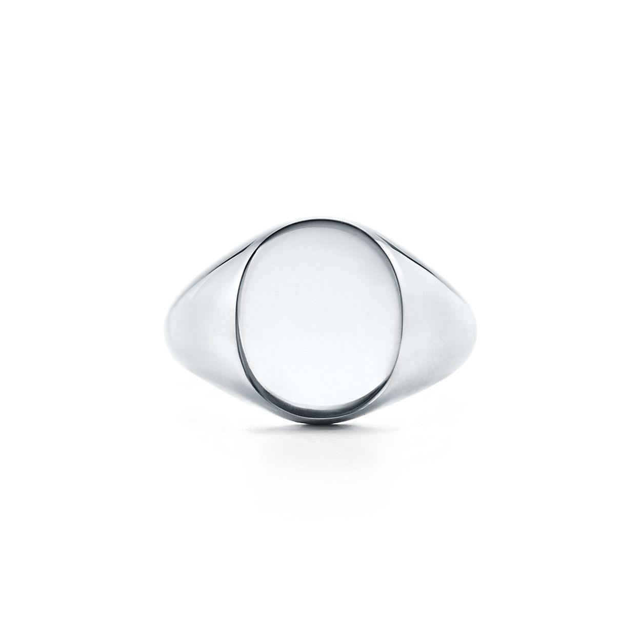 products signet square silver ring