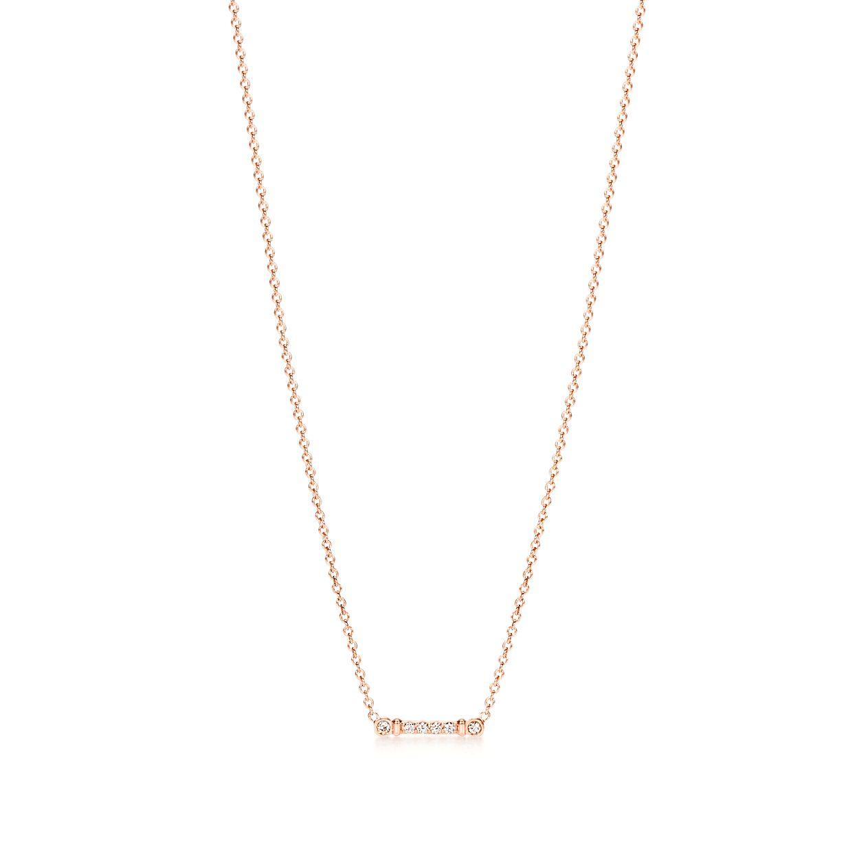 Pendentif Tige Fleur de Lis Tiffany en or rose 18 carats et diamants ... 4390cb25fc5a