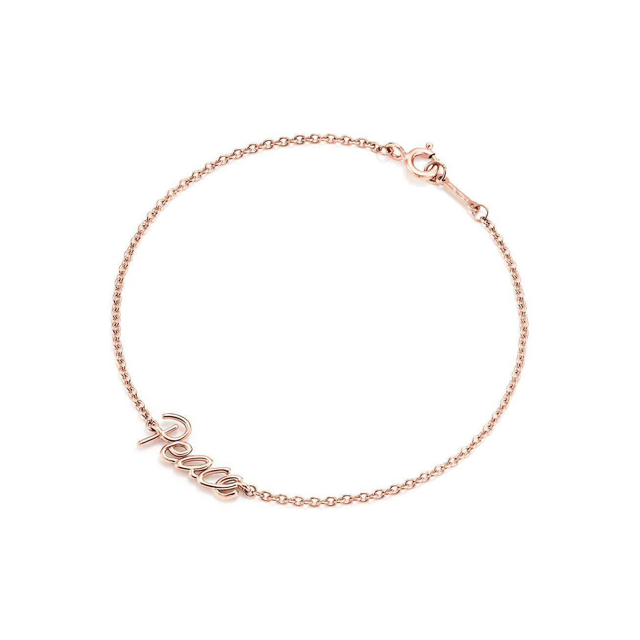 Palomas Graffiti love bracelet in 18k rose gold, large Tiffany & Co.
