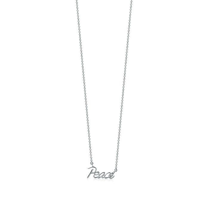 76d679b6a Paloma's Graffiti peace pendant in sterling silver, mini. | Tiffany ...
