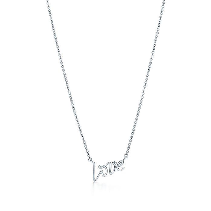 fbc0d9c41 Paloma's Graffiti love pendant in sterling silver, mini. | Tiffany & Co.