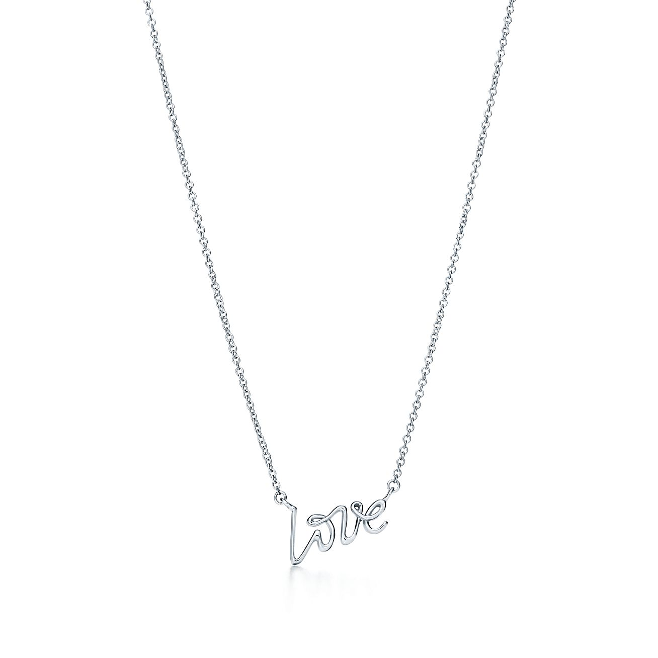 paloma s graffiti love pendant in sterling silver mini tiffany co